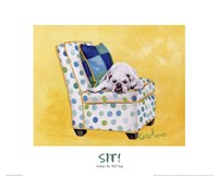 Sidney The Bull Dog (Polka Dot) Fine Art Print