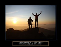 Encouragement - Climbers Fine Art Print