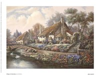 Village Of Selworthy Fine Art Print