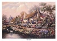 Village Of Selworthy Fine Art Print