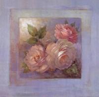 Roses on Blue II Fine Art Print