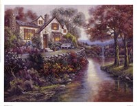 Crystal Streams Bungalow Fine Art Print