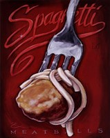 Spaghetti Meatballs Fine Art Print