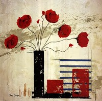 Les Coquelicots II Framed Print