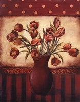 Red Tulips - Grande Framed Print