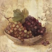 Sunlit Grapes Framed Print