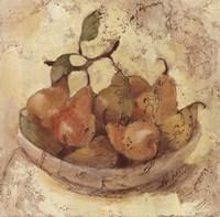 Sunlit Pears Framed Print