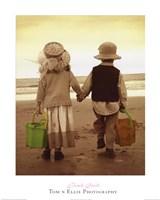 Beach Stroll Framed Print