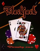 Blackjack Framed Print