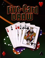 Five Card Draw Fine Art Print