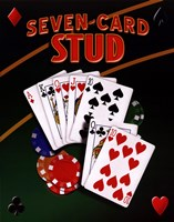 Seven Card Stud Framed Print