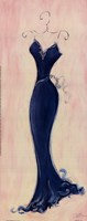 Blue Evening Gown Fine Art Print