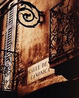 Calle De Canonica Framed Print
