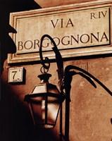 Via Borgognona Fine Art Print