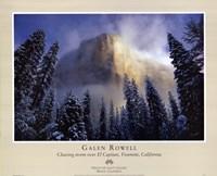 Clearing Storm, El Capitan Framed Print