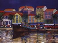 Riverside Promenade Fine Art Print