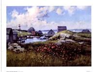 Houses Around The Bay Fine Art Print