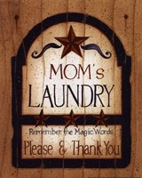 Mom's Laundry Framed Print