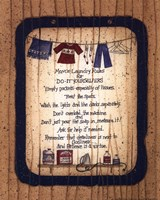 Mom's Laundry Rules Fine Art Print