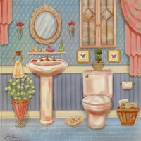 Powder Room IV Fine Art Print