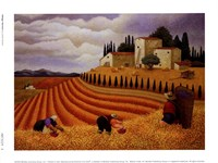 Village Harvest Fine Art Print