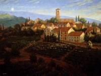 Moonrise In Tuscany Fine Art Print