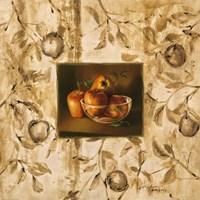 Manzanas En La Mesa Fine Art Print