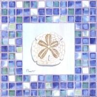 Mosaic Sanddollar - Mini Framed Print