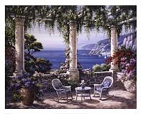 Mediterranean Terrace Framed Print