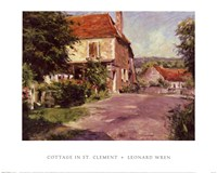 Cottage In St. Clement Fine Art Print