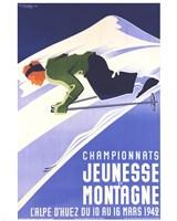 Championnats Jeunesse Et Montagne Fine Art Print
