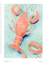 Lobster Shuffle Framed Print