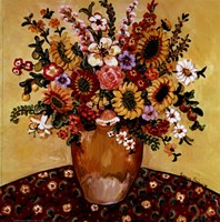 Golden Vase Floral Fine Art Print