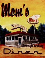 Mom's Diner Framed Print