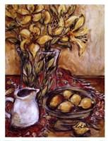 Lemons And Lilies Fine Art Print