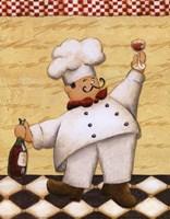 Le Chef Et Le Vin Fine Art Print