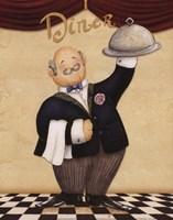 Waiter - Diner Fine Art Print
