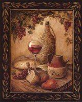 Tuscan Table - Chianti - Mini Framed Print