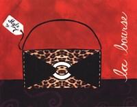 Leopard Handbag II Framed Print