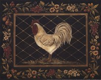 Old World Rooster - Mini Framed Print