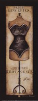 Paris Lingeries No 287 - Petite Framed Print