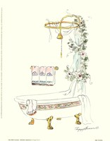 Tubs With Curtains-Bathtime Opulence Fine Art Print