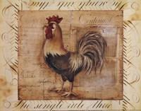 Rustic Farmhouse Rooster II - Mini Fine Art Print