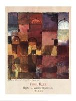 Rote U Weisse Kuppeln, 1914 Fine Art Print