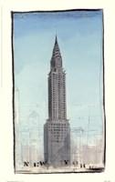 World Landmark New York Framed Print