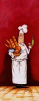 Chef With Bread And Oil Fine Art Print