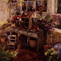 Michelle's Potting Bench Fine Art Print