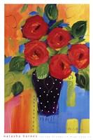Spring Blooms In Blue Vase II Framed Print