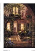 Spring Courtyard I Fine Art Print