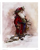 Olde World Santa Fine Art Print